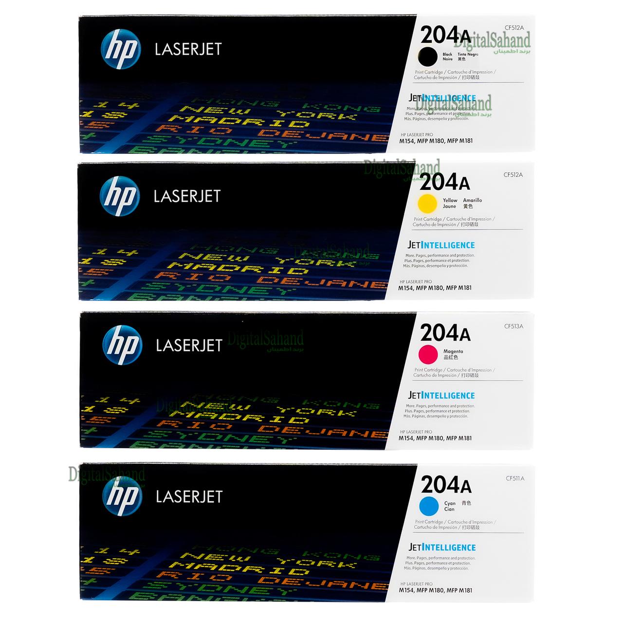 ست کارتریج تونر رنگی HP 204A