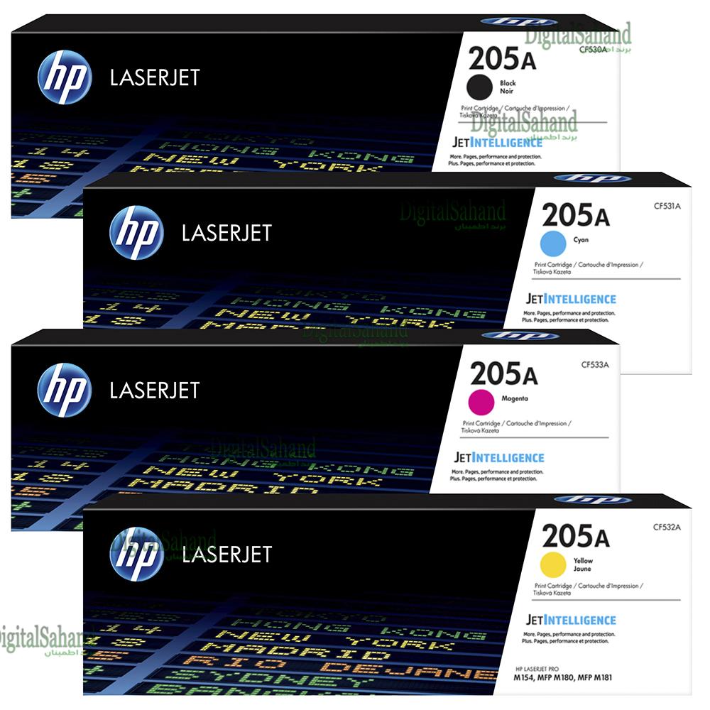 ست کارتریج تونر رنگی HP 205A