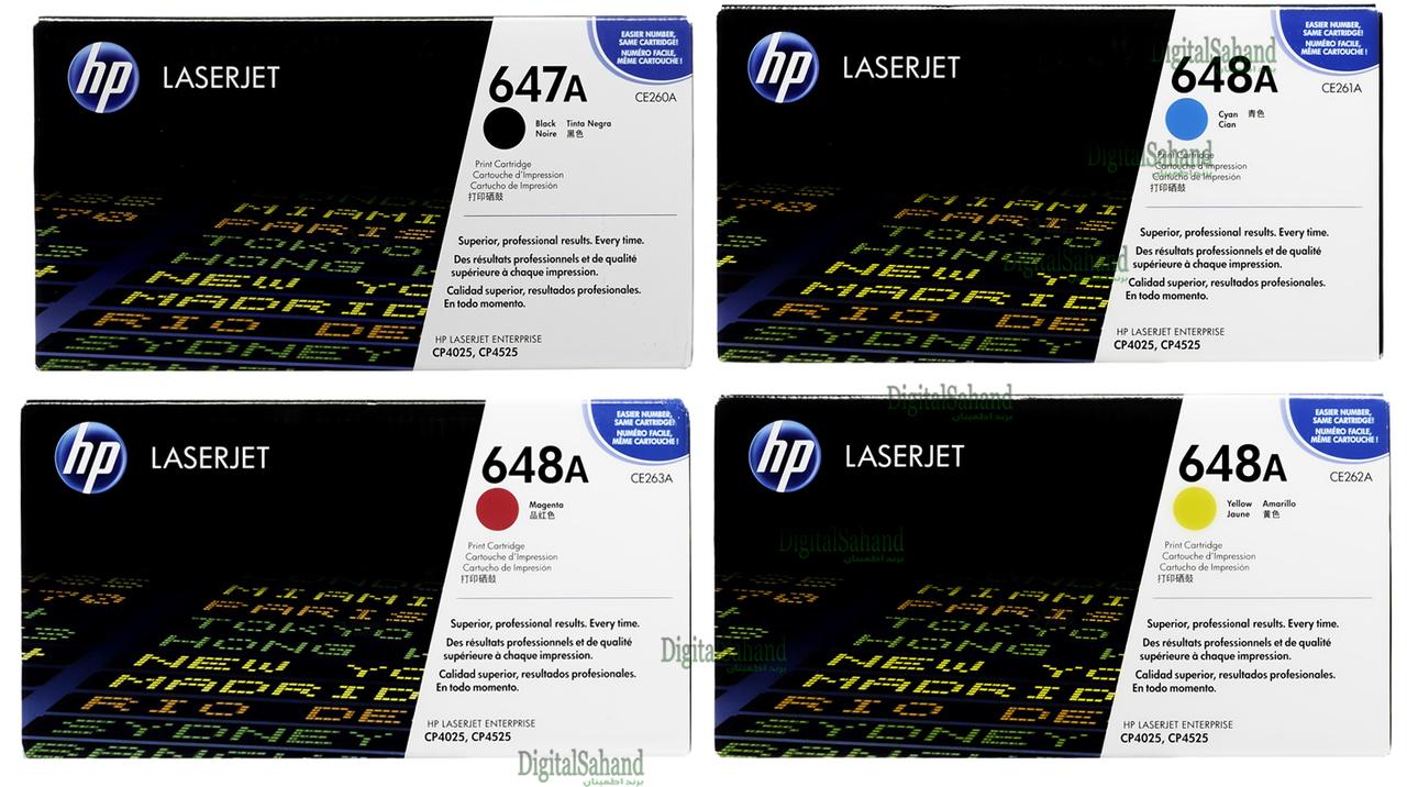 کارتریج تونر لیزری رنگی HP 648A